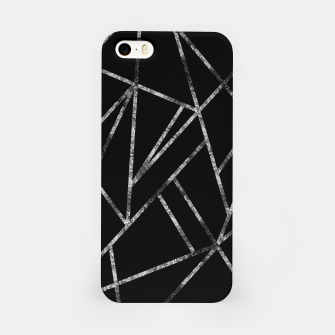 Miniaturka Classic Black Silver Geo #1 #geometric #decor #art  iPhone-Hülle, Live Heroes