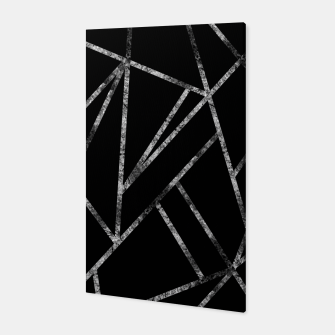 Miniaturka Classic Black Silver Geo #1 #geometric #decor #art  Canvas, Live Heroes