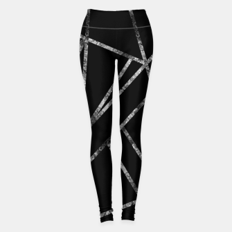 Miniaturka Classic Black Silver Geo #1 #geometric #decor #art  Leggings, Live Heroes