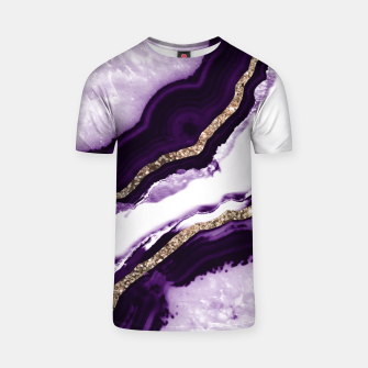 Thumbnail image of Agate Glitter Glam #13 #gem #decor #art T-Shirt, Live Heroes