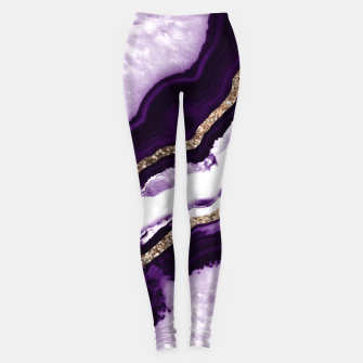 Miniaturka Agate Glitter Glam #13 #gem #decor #art Leggings, Live Heroes