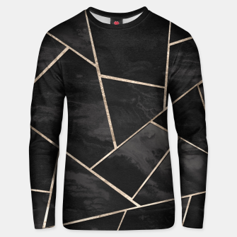 Miniaturka Dark Black Ink Rose Gold Geometric Glam #1 #geo #decor #art  Unisex sweatshirt, Live Heroes