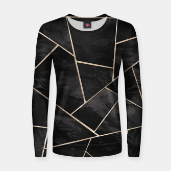 Miniaturka Dark Black Ink Rose Gold Geometric Glam #1 #geo #decor #art  Frauen sweatshirt, Live Heroes