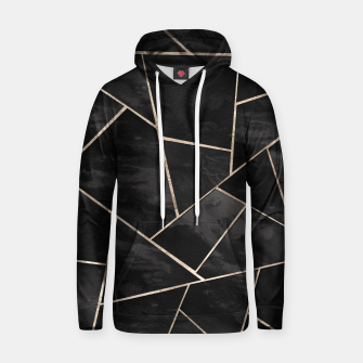 Miniaturka Dark Black Ink Rose Gold Geometric Glam #1 #geo #decor #art  Kapuzenpullover, Live Heroes