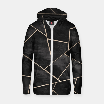 Miniaturka Dark Black Ink Rose Gold Geometric Glam #1 #geo #decor #art  Reißverschluss kapuzenpullover, Live Heroes