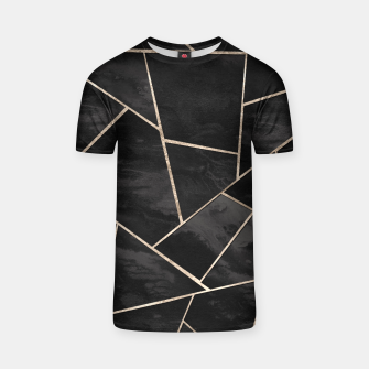 Miniaturka Dark Black Ink Rose Gold Geometric Glam #1 #geo #decor #art  T-Shirt, Live Heroes