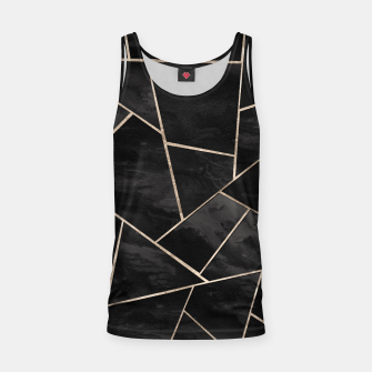 Imagen en miniatura de Dark Black Ink Rose Gold Geometric Glam #1 #geo #decor #art  Muskelshirt , Live Heroes