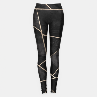 Miniaturka Dark Black Ink Rose Gold Geometric Glam #1 #geo #decor #art  Leggings, Live Heroes