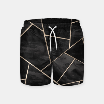 Miniaturka Dark Black Ink Rose Gold Geometric Glam #1 #geo #decor #art  Badeshorts, Live Heroes