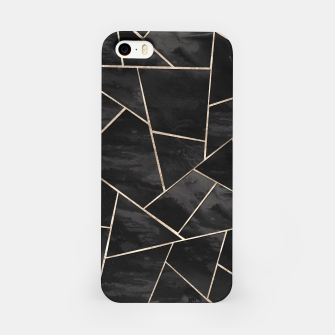 Miniaturka Dark Black Ink Rose Gold Geometric Glam #1 #geo #decor #art  iPhone-Hülle, Live Heroes