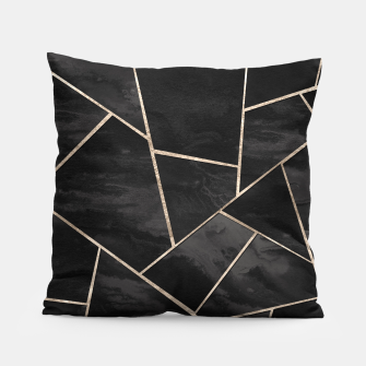 Miniaturka Dark Black Ink Rose Gold Geometric Glam #1 #geo #decor #art  Kissen, Live Heroes