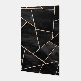 Miniaturka Dark Black Ink Rose Gold Geometric Glam #1 #geo #decor #art  Canvas, Live Heroes