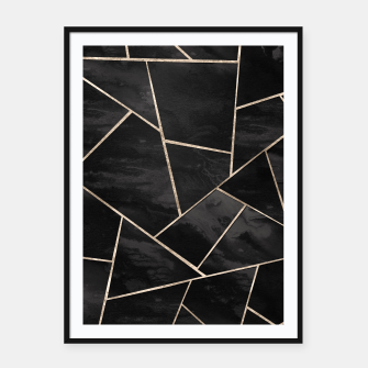 Miniaturka Dark Black Ink Rose Gold Geometric Glam #1 #geo #decor #art  Plakat mit rahmen, Live Heroes