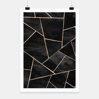 Miniatur Dark Black Ink Rose Gold Geometric Glam #1 #geo #decor #art  Plakat, Live Heroes