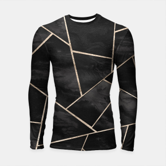 Miniaturka Dark Black Ink Rose Gold Geometric Glam #1 #geo #decor #art  Longsleeve rashguard, Live Heroes