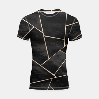 Miniaturka Dark Black Ink Rose Gold Geometric Glam #1 #geo #decor #art  Shortsleeve rashguard, Live Heroes