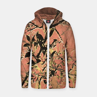 Thumbnail image of Floral Grungy Style Artwork  Zip up hoodie, Live Heroes