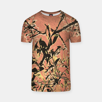 Miniaturka Floral Grungy Style Artwork  T-shirt, Live Heroes