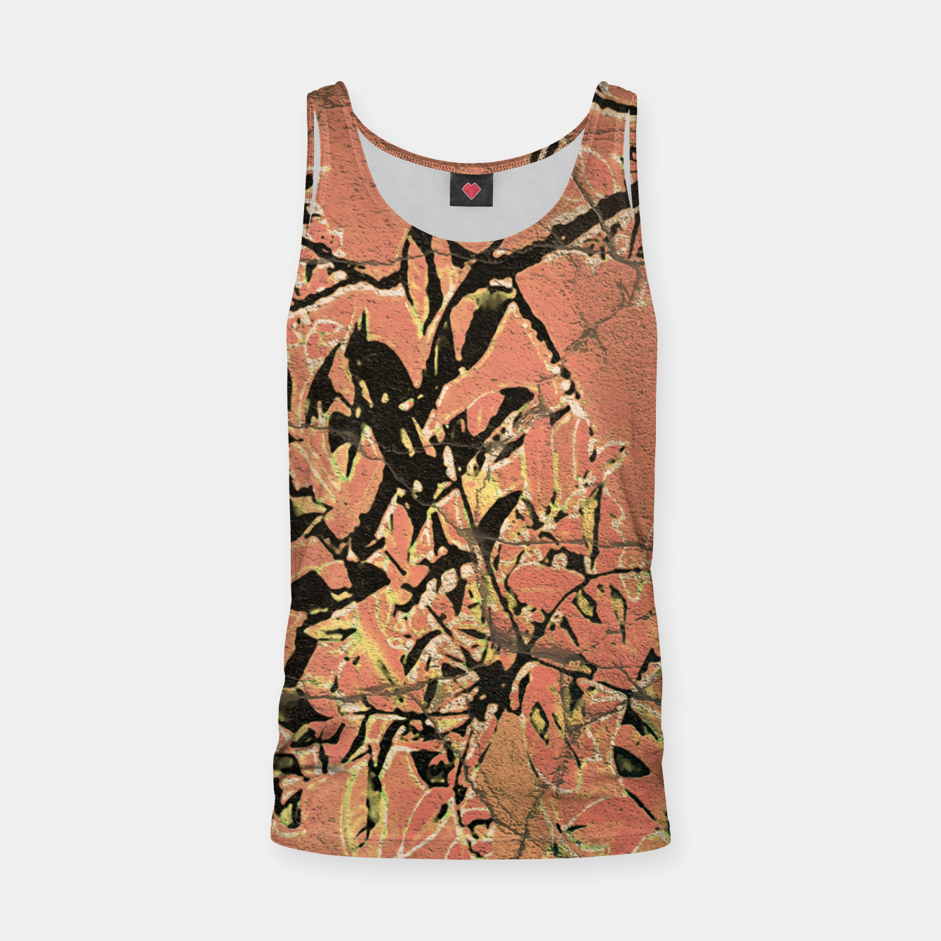 Image of Floral Grungy Style Artwork  Tank Top - Live Heroes