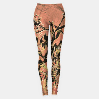 Thumbnail image of Floral Grungy Style Artwork  Leggings, Live Heroes