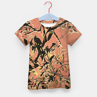 Thumbnail image of Floral Grungy Style Artwork  Kid's t-shirt, Live Heroes