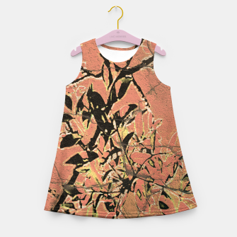 Thumbnail image of Floral Grungy Style Artwork  Girl's summer dress, Live Heroes