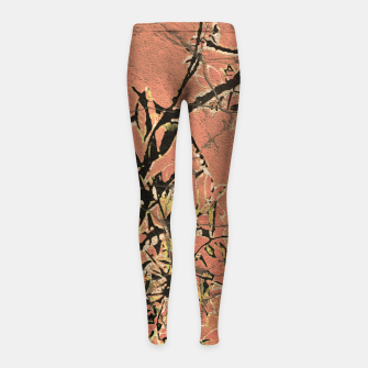 Thumbnail image of Floral Grungy Style Artwork  Girl's leggings, Live Heroes