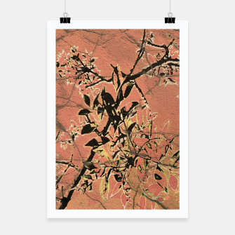 Miniaturka Floral Grungy Style Artwork  Poster, Live Heroes
