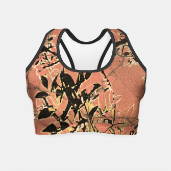 Miniaturka Floral Grungy Style Artwork  Crop Top, Live Heroes