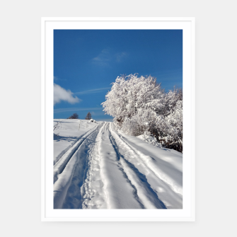 Thumbnail image of Winter landscape  transylvania Cartel con marco, Live Heroes