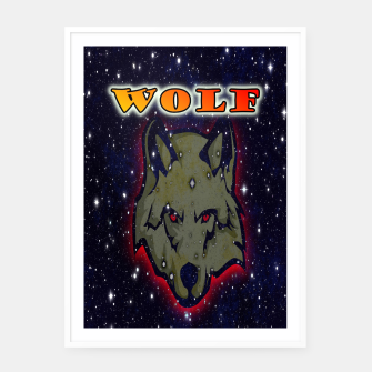 Thumbnail image of Wild wolf Cartel con marco, Live Heroes