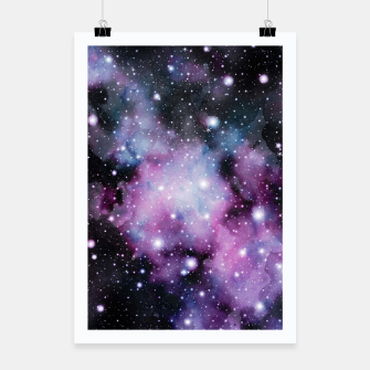 Miniatur Unicorn Galaxy Nebula Dream #2 #decor #art  Plakat, Live Heroes