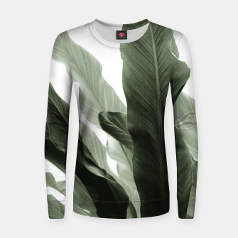 Miniaturka Banana Leaves Jungle #7 #tropical #decor #art Frauen sweatshirt, Live Heroes