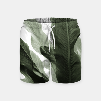 Miniaturka Banana Leaves Jungle #7 #tropical #decor #art Badeshorts, Live Heroes