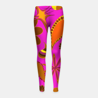 Miniatur Vintage diversity on purple Leggings para niña, Live Heroes