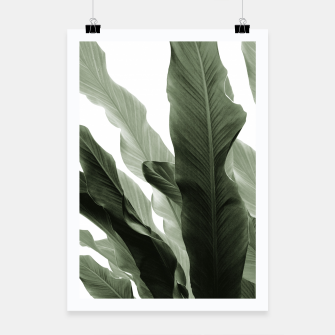 Miniatur Banana Leaves Jungle #7 #tropical #decor #art Plakat, Live Heroes