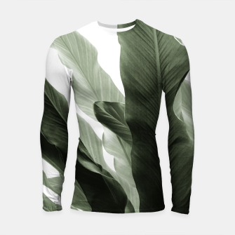 Miniature de image de Banana Leaves Jungle #7 #tropical #decor #art Longsleeve rashguard, Live Heroes