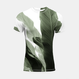 Miniature de image de Banana Leaves Jungle #7 #tropical #decor #art Shortsleeve rashguard, Live Heroes