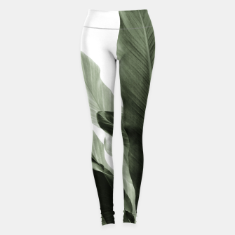 Miniaturka Banana Leaves Jungle #7 #tropical #decor #art Leggings, Live Heroes