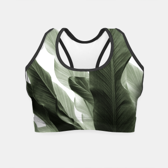 Miniaturka Banana Leaves Jungle #7 #tropical #decor #art Crop Top, Live Heroes