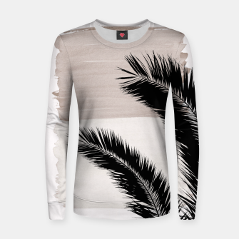 Miniature de image de Palms Abstract - Naturelle #1 #minimal #wall #decor #art Frauen sweatshirt, Live Heroes