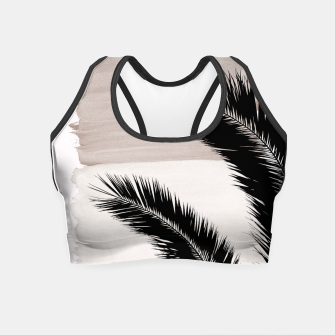 Miniaturka Palms Abstract - Naturelle #1 #minimal #wall #decor #art Crop Top, Live Heroes