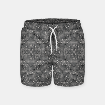 Miniaturka Modern Fancy Nature Collage Pattern Swim Shorts, Live Heroes