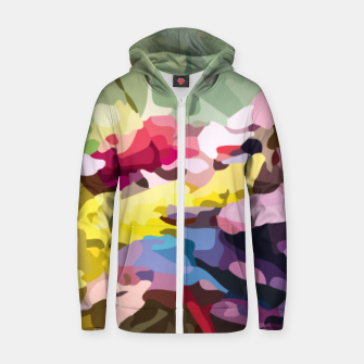 Thumbnail image of Rainbow forest Zip up hoodie, Live Heroes