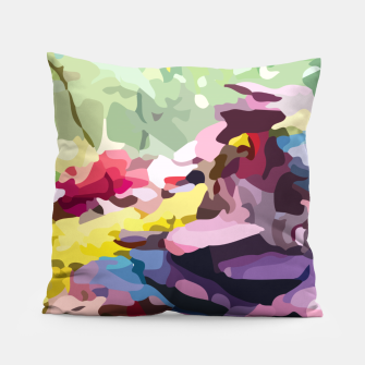 Thumbnail image of Rainbow forest Pillow, Live Heroes