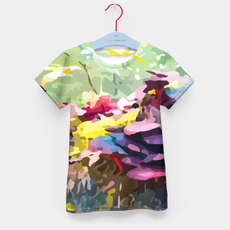 Thumbnail image of Rainbow forest Kid's t-shirt, Live Heroes