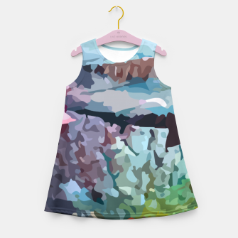 Thumbnail image of Rainbow forest Girl's summer dress, Live Heroes