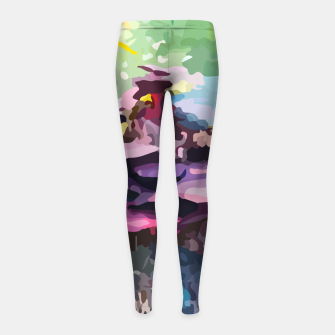 Thumbnail image of Rainbow forest Girl's leggings, Live Heroes