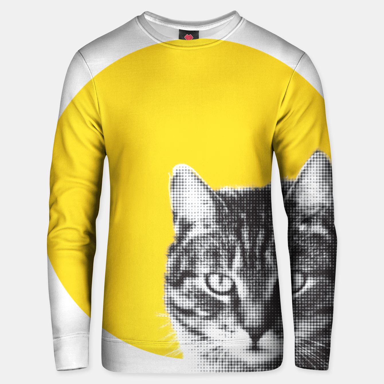 Foto Cat stare Unisex sweater - Live Heroes