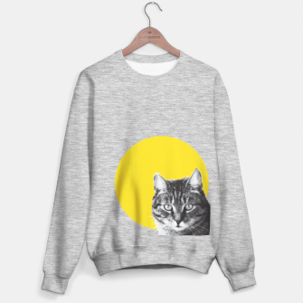 Cat stare Sweater regular Bild der Miniatur